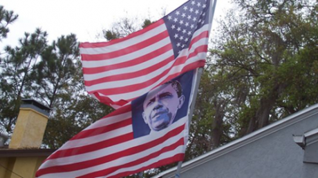 Who Decided That It Was Okay To Replace The Stars On The American Flag With The Face Of Barack Obama? The Obama Flag Who Decided That It Was Okay To Replace The Stars On The American Flag With The Face Of Barack Obama 460x258