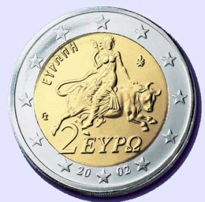 a woman rides the beast 2 euro coin end of the american dream. Black Bedroom Furniture Sets. Home Design Ideas
