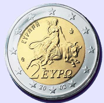 A Woman Rides The Beast 2 Euro Coin Top 12 NWO Symbols   Mass Mind Control