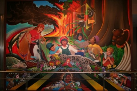 Denver Airport Mural 460x306 Top 12 NWO Symbols   Mass Mind Control