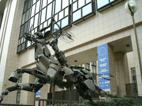 Europa Statue EU Headquarters Brussels 460x345 Top 12 NWO Symbols   Mass Mind Control