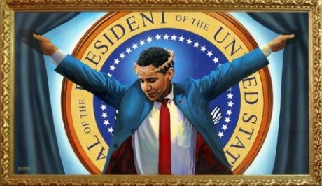 22 Signs That Barack Obama Is Transforming America Into A Larger Version Of North Korea Obama As Jesus 460x266