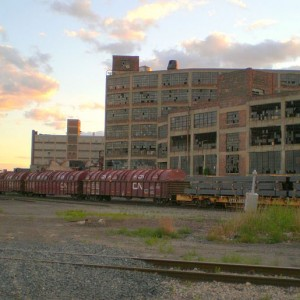 Detroit Michigan at Milwaukee Junction looking southwest at Russell Industrial Complex - Photo by no body atoll