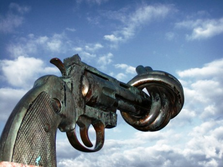 UN Gun Sculpture - Photo by Francois Polito