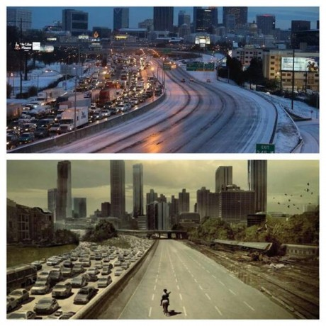 Atlanta Snowpocalypse - Photo Posted On Twitter by Ryan Duckworth