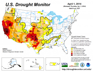 Drought Monitor April 1