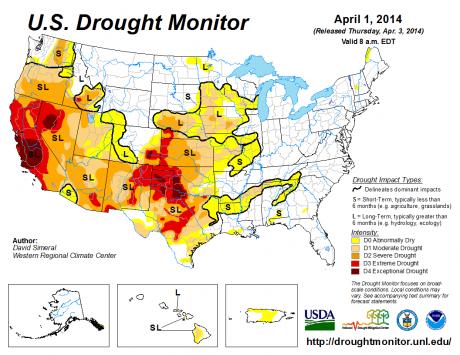 Drought Monitor April 1