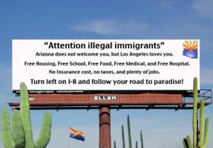 Illegal Immigration Billboard