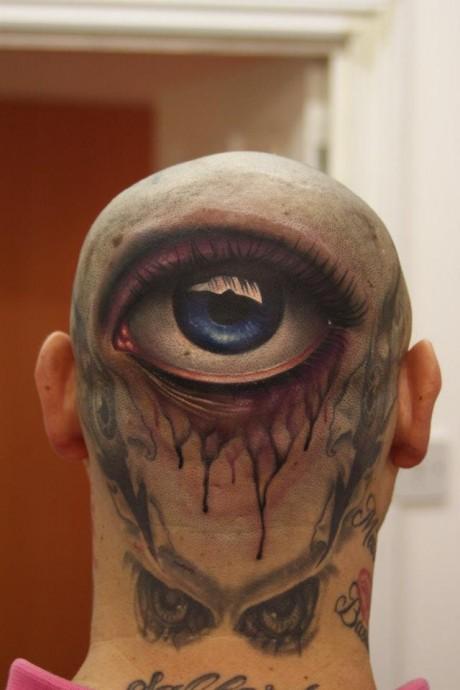 3D Tattoo Back Of Head