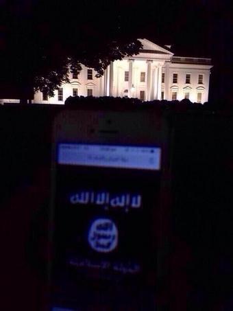 ISIS delante de la Casa Blanca - Enviado a Twitter porSunna_rev