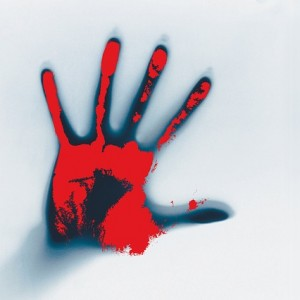 Bloody Handprint - Public Domain