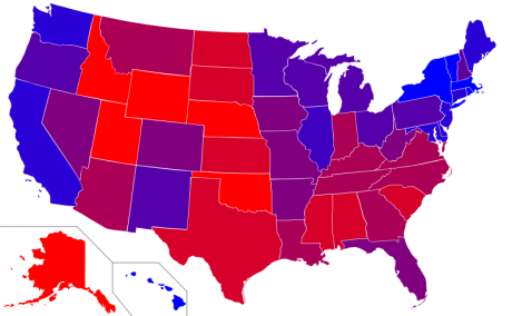 Presidential Victory Margins - Photo by Ninjatacoshell