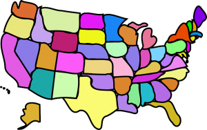 United States Fun Map - Public Domain