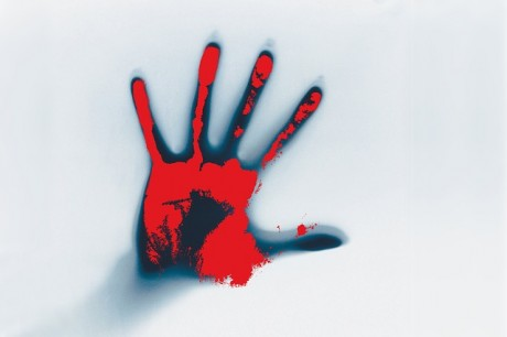 Crime - Bloody Handprint - Public Domain