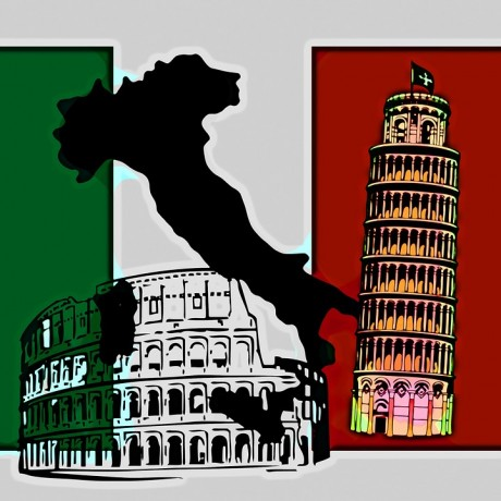 Italy Banner - Public Domain