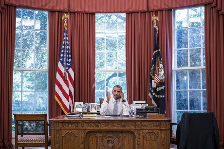 Obama In The Oval Office - Public Domain