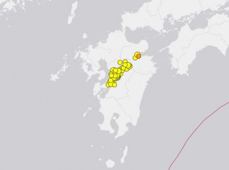 Kyushu Earthquakes April 20