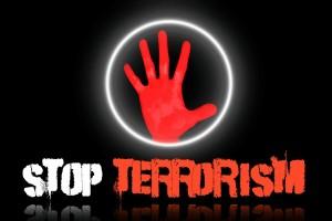 Stop Terrorism Red Hand - Public Domain