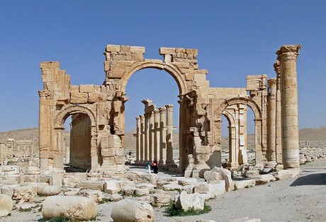The Arch Of Triumph - Palmyra, Syria - Photo by Bernard Gagnon
