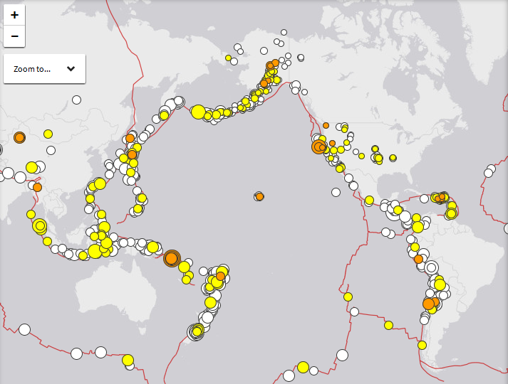 Latest Earthquakes Ring Of Fire Usgs Map End Of The American Dream