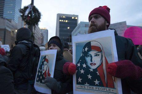 Anti-Trump Muslim Protest - Photo by Fibonacci Blue