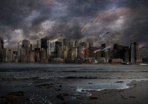 Apocalyptic City Skyline - Public Domain