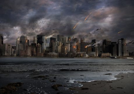 Apocalyptic City Skyline - Public Domain