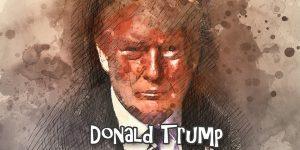 Donald Trump Abstract - Public Domain