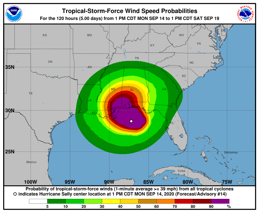 Will Sally Become The First Hurricane To Hit...