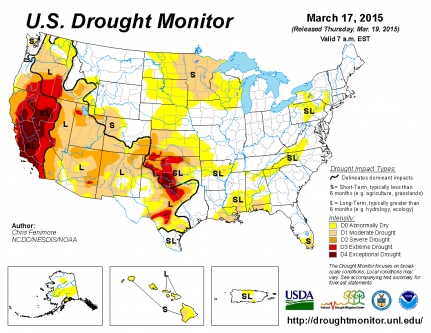 March 17 2017 Us Drought Monitor