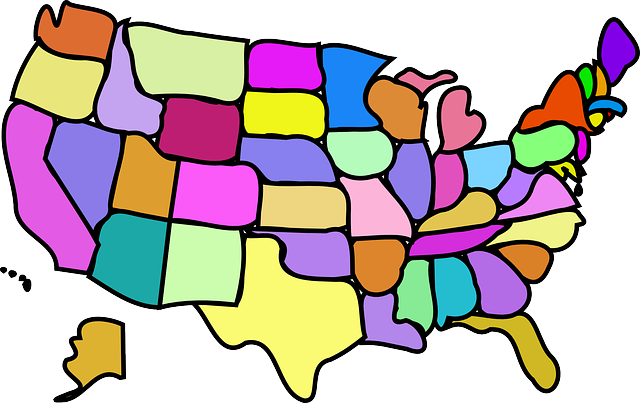Image result for public domain image map of the united states