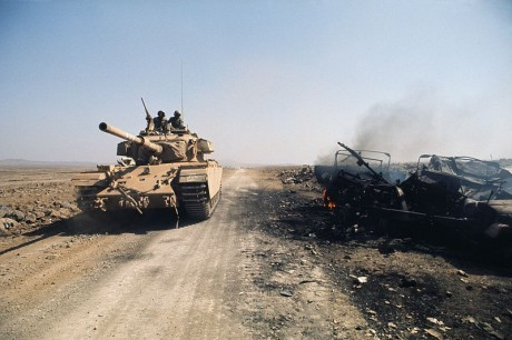 Israeli Tank on the Golan Heights